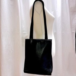 Mika Paioli  Black Leather Bag